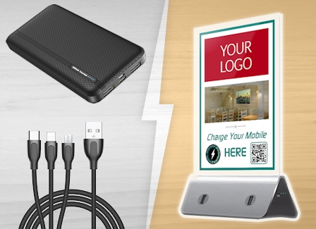 """image showing ChargerPoints UK Pro ChargerPack, 3-way cable and """"Tobi"""" Powerbank"""