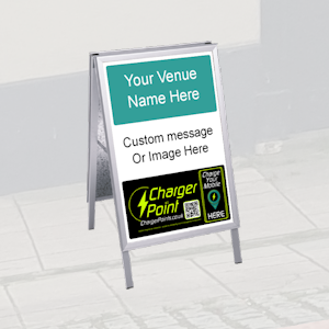 image of ChargerPoints.co.uk promotional A board