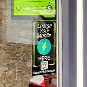 image of ChargerPoints.co.uk promotional window sticker